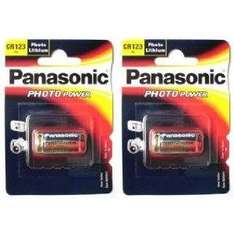 Panasonic cr123a lithium battery twin pack - £1.50 Instore @ Asda