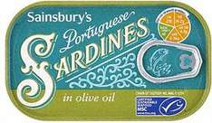 Sainsbury's Sardines in Olive Oil -  Online only - 41p @ Sainsburys