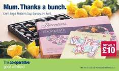 Buy a Hallmark Card, Thorntons Chocolate Collection 283g & Bunch of roses for £10 @ Co-Op