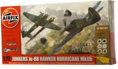 Airfix Dogfight Double Junkers JU-88 & Hawker Hurricane (paints, brushes, glue) - Half Price -  £10.99 @ WH Smith