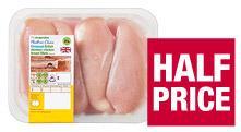 Elmwood Fresh Chicken Breast Fillets £3.75 & The Co-operative Elmwood Fresh Medium Whole Chicken 410g-1.45kg  - Three for £10