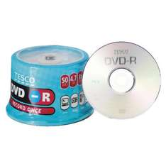 150 Tesco DVD-R or DVD+R For £14.00 Collect In Store @ Tesco Direct