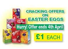 Easter Eggs offers (£1/ £2.79) @ One Stop