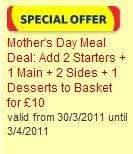 £10 Mothers Day Meal for 4:- 2 Starters, 1 Main, 2 Sides and 1 Dessert @Tesco