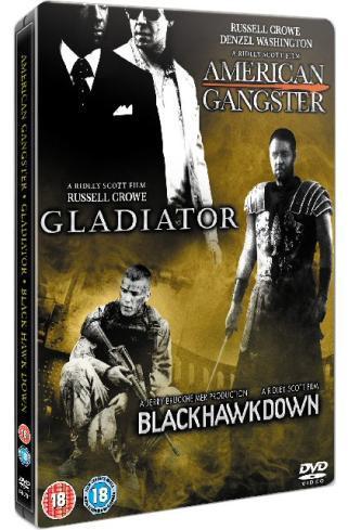 3 Film Box Set: American Gangster / Gladiator / Black Hawk Down (DVD) (3 Disc) - £6.99 @ HMV
