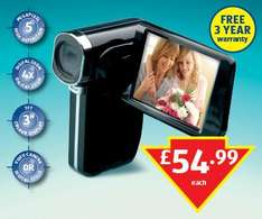 5 Megapixel HD Camcorder - £54.99 @ Aldi (Instore)