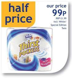 2 Rolls of Lotus Thirst Pockets - 99p *Instore* @ Nisa
