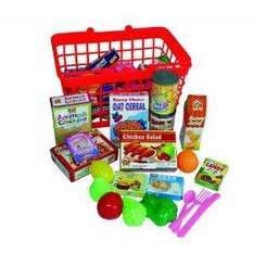 40 Piece Grocery Basket with Play Food - £5 Delivered @ Amazon