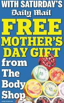 FREE Body Butter 50ml from The Body Shop With Daily Mail Saturday/ body scrub with Mail on Sunday + £5 off £15