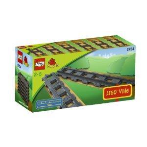 LEGO DUPLO Trains 2734 Straight Rails 33% off RRP £4.99 @ Amazon