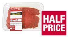 Rump Steak Half Price £6.49 per kg  at Co-op