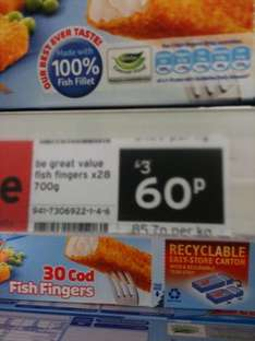 Birds Eye Fish Fingers 28 pack reduced from £3 to 60p! @ Sainsburys