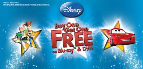 Disney DVD Blu-ray Buy One Get One Free - From £13.89 @ Sendit