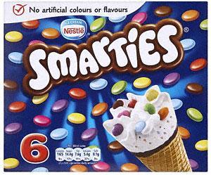 Nestlé Smarties Cone 6x100ml (BOGOF) £2.29 @ Sainsburys