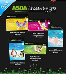 New Chosen By You kids ice lollies only £1 per pack at Asda‏