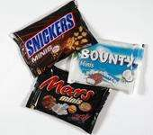 bag of mini mars bars, snickers, bountys, @ poundworld £1