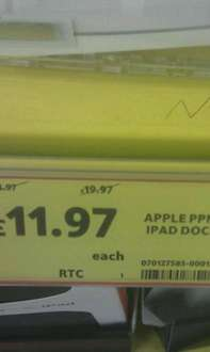 Official Apple iPad Dock - £11.97 Instore @ Tesco