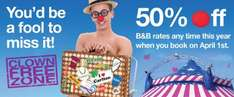 April Fools Day Offer At Carlton Hotels 50% off