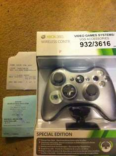 Official Wireless Silver Special Edition Controller w/Play & Charge Kit For Xbox 360 - £29.99 @ Argos