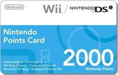2000 Nintendo Points For Wii or DSi - £8.85 (or 10% cheaper with code FOOL10) @ The Hut