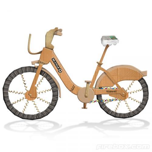 Re-Cycle Cardboard Bike - £14.99 @ Firebox