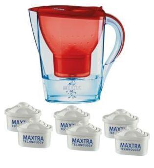 BRITA Marella Cool Water Filter Jug with 6 Cartridges - Red - £24.99 @ Argos