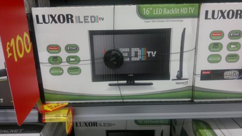 """Luxor 16"""" LED backlit HD (720p) freeview & DIVx playback via USB - £85  instore @ Asda"""