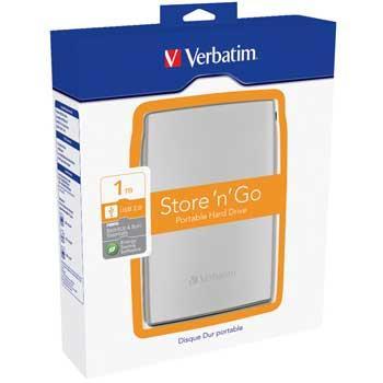 "1TB Verbatim 53016 Store ''n'' Go, External 2.5"" Hard Drive, USB 2.0 - £62.39 @ Scan"