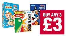 Kellogg's Rice Krispies/Cornflakes/Frosties 340g/500g 3 for £3 @ Co-Op