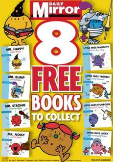 8 Free Mr Men and Little Miss Books (starts Sat 2-4-11) @ Daily Mirror