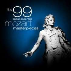 The 99 Most Essential Mozart Masterpieces (MP3) (Also:- Brahms / Schubert / Grieg / Beethoven / Chopin / Haydn / Handel / Vivaldi / Bach) - £2.69 @ Amazon