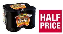 4 Pack Branston Beans £1.22 Co op - Half Price