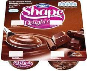 Danone Shape Delights Chocolate (4x110g) was £1.59 now £1 @ Sainsburys