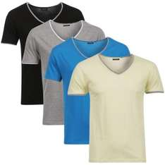 Mens Bravesoul 4 Pack Silva T-Shirt - Black/Grey/Yellow/Blue - £7.99 Delivered @ The Hut