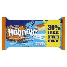 Hobnobs chocolate  or Snickers flapjacks 5 in a pack 59p at B&M Bargains.