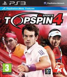 Top Spin 4 For PS3 & Xbox 360 - £29.85 or £27.85 (with code) Delivered @ The Hut