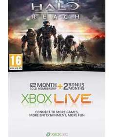 12+2 Months Xbox Live Gold Membership - £27.99 Argos - Reserve and Collect