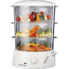 Russell Hobbs 15071 9 L 3-Tier White Food Steamer - £22.49 @ Amazon