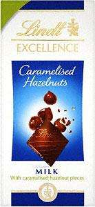 Lindt Excellence Caramelised Hazelnuts 75p each,  2 for £2.50 @ Tesco