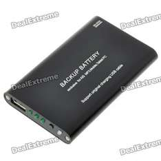 Emergency Power (Rechargeable Battery Pack, 2000mAh) with USB Port - £8.32 @ Deal Extreme