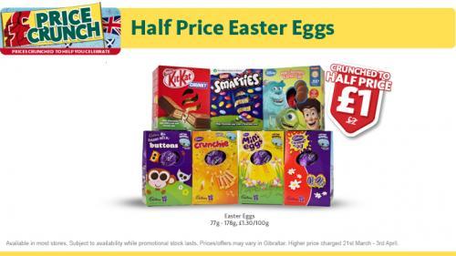 Morrisons Medium Easter Eggs £1