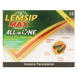 Lemsip Max all in one Cold & Flu Capsules - 8 Capsules 75P @ SAINSBURYS