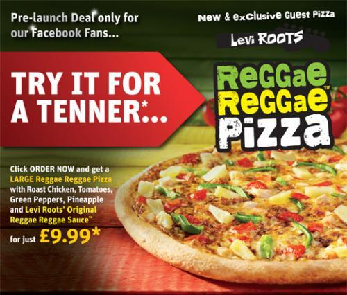 Try the NEW Domino's Reggae Reggae Large Pizza for £9.99!!