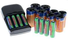 Camlink Delta 3 Ni-Mh Charger/AA & AAA Batteries Plus C & D Cell Adapters (16 Piece Kit) - £6.99 Delivered @ 7 Day Shop