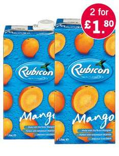 Rubicon Mango Juice Drink x 2 for £1.80 @Lidl
