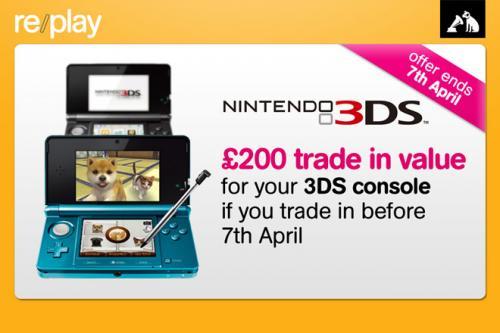 Nintendo 3DS - Trade In At HMV For £200 Credit Or £180 Cash