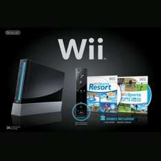 Black Nintendo Wii Console With Wii Sports, Wii Sports Resort & MotionPlus - £129.99 Delivered @ Ebay Zavvi Outlet