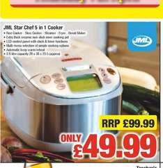 JML Star Chef 5 in 1 Cooker was £99.99 now £49.99 @ Netto