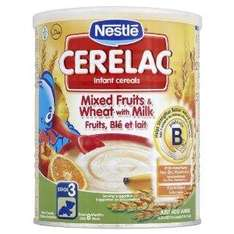 Nestlé Cerelac Infant Cereals Mixed Fruits 400 g (Pack of 4)Delivered FREE @Amazon