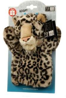 Born Free Foundation Aztai The Snow Leopard Hand Puppet - Was £13.99 Now £4.20 + Free Delivery to Local Store @ WH Smith